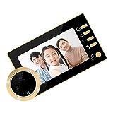 PETSOLA Türsprechanlage mit Kamera Video Türklingel Gegensprechanlage System - Gold