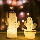 Einfache Moderne Topfpflanzen Tischlampe, Harz Skulptur Nachtlicht, Kaktus Skulptur Lichter,...