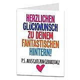 LimaLima Lustige Geburtstagskarten für Frau oder Freundin Grobes Design für Freund Ehemann...