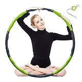 Hula Hoop zur Gewichtsreduktion,Reifen mit Schaumstoff 1,3 kg Gewichten Einstellbar Breit 48–88 cm...