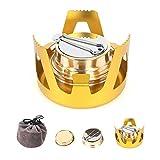 ShineTool Mini Alkohol Brenner, Tragbare Aluminiumlegierung Messing Mini Kupfer Spirituskocher...