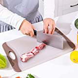 zyh Kunststoff-Schneidebrett,Schneidbrett,Anti-Mehltau und antibakterielles Küchenschneidebrett...