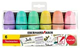 Eberhard Faber 551403 Mini Textmarker mit Keilspitze, in Pastell Farben, 6er Etui