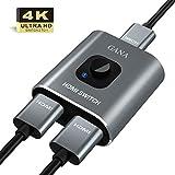 HDMI Switch HDMI Splitter,GANA Aluminium HDMI Switcher Bidirektionaler 2 In 1 Out oder 1 In 2 Out...