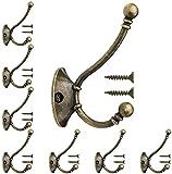 Willand 8 Stück Vintage Garderobenhaken Mit Schrauben Messing Bronze Design Handtuchhaken Wandhaken...