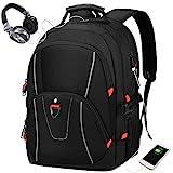 NEWHEY Laptop Rucksack Herren 17 Zoll Schulrucksack mit USB Wasserdicht 17,3 Zoll Arbeitsrucksack...