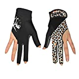 Arbeitshandschuhe, Fahrradhandschuhe Pool Cues Gloves Display Billard Schiesshandschuhe (Paar) Damen...