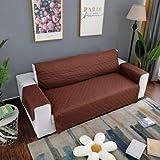 Masun Wasserdichte Sitzauflage für Haustiersofa, mit Gurt, abnehmbar, braun, 1