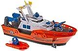 Dickie Toys 203308375 Harbour Rescue 203308375-Harbour, Rettungsschiff mit Licht & Sound, manuelle...