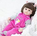 Z-DJJ 42Cm / 16 cm Reborn Baby Mädchen Puppe Mit Kleidung, Weiche Vinyl Gliedmaßen, Lebensechte...