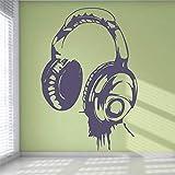 Kopfhörer Musik Dj Wandtattoo Tapete Dekor Schlafzimmer Wandbild Kunst Dekor Kinderzimmer...