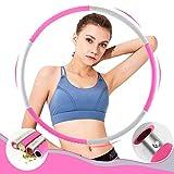 xtaviya Hula Hoop Reifen Erwachsene, Faltbar Fitness Welle Gewichte 1.2kg Anpassbar für Gym...