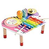 BeebeeRun Baby Musikinstrumente Set, Xylophon Kinder Holz, Geburtstagsgeschenk-Set fr Jungen Mdchen...