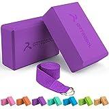 arteesol Eva Yoga Block Set, Yoga-Stein aus hochdichtem Schaumstoff mit Yoga-Gürtel, Yoga-Zubehör...