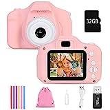 Faburo Kinderkamera Digital Kamera Mini Kamera Kinder Spielzeug 2.0 Zoll Bildschirm Kamera Video...