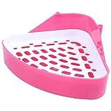 RETYLY Katzentoilette für Kleintiere, Ecke, für Hamster, Schwein, Kaninchen, Peeling, zufällige...