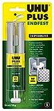 UHU 2-Komponentenkleber Plus Endfest, Glasklarer und höchst belastbarer 2K-Klebstoff in einer...