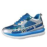 SOMESUN Damen Pailletten Schuhe Atmungsaktiv Freizeitschuhe Mode Outdoor Laufschuhe Leichtgewichts...