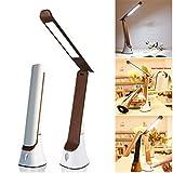 N/P LED-Schreibtischlampe Wiederaufladbare USB-Klapptischlampe mit Nachtlampe...