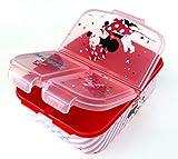 Minnie Maus Kinder Brotdose mit 3 Fächern, Kids Lunchbox,Bento Brotbox für Kinder - ideal für...