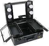 LUVODI Kosmetikkoffer mit Beleuchtung, Make-up Koffer Schminkkoffer mit Kosmetikspiegel,...