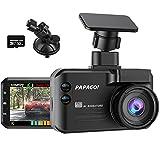 PAPAGO Dashcam GPS Verkehrsalarm 3 in 1 - Globale Tempolimits Daten + Laser Radardetektor + Smart...