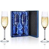 champagner gläser, Smalibal sektgläser set 2, 220 ml Sektglas,Handgeblasen Bruchsicher,...