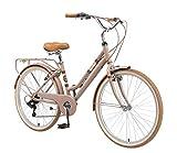 BIKESTAR Alu City Stadt Fahrrad 28 Zoll | 18 Zoll Rahmen, 7 Gang Shimano Damen Rad, Hollandrad Retro...