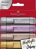 Faber-Castell 154640 - Textmarker 46 Metallic, 4 Stück im Etui