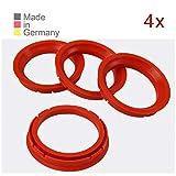 KONIKON 4X Zentrierringe 73,0 x 57,1 mm Rot Felgen Ringe Radnaben Zentrierring Adapterring Ring...