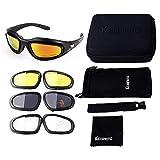 ISSYZONE Motorrad Brille UV-Schutz Polarisierte Sonnenbrille Motorradbrille Sportbrille Schutzbrille...
