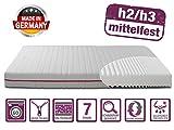 BMM Matratze Klassik 19 - orthopdische 7-Zonen Kaltschaummatratze 90x200 cm, H2 / H3 mittel-fest,...