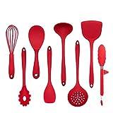 GXMREN Antihaft Silikon Geschirr-Küchenhelfer Sets,Hohe Temperaturbeständigkeit,weich und den Topf...