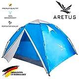 """Aretus- """"Eagle Tent"""" großes Pop Up Wurfzelt 2 3 4 Personen Zelt - mit Vorzelt - Wasserdicht 2..."""