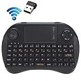 NSK Mini Wireless Keyboard LLP X3 83-Tasten QWERTY-2,4-GHz-Mini drahtlose Tastatur mit Touchpad & 3...