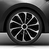 Autoteppich Stylers 16' 16 Zoll Radkappen/Radzierblenden Nr.006 (Farbe Schwarz-Silber), passend für...