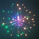 WSYYWD DIY Feuerwerk LED Fairy Light String faltbare batteriebetriebene Fernbedienung Girlande 3...