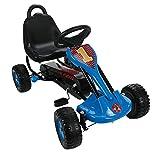 GoKart für Kinder mit 2 Pedalen, Handbremse, 17 mm Stahlrahmen, Sitz in 2 Positionen einstellbar,...