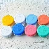 Kunststoff-Kontaktlinsen Mini CaseTravel Kit Einfache Tragetasche Vorratsbehälter zufällig