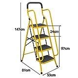 Guoyajf Klappbare 4-Stufen- / 5-Stufen-Sicherheitsleiter - Rutschfester Trittleiter-Klappstuhl mit...