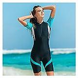 Tauchanzüge, Neoprenanzug für Frauen Front Zip Shorty Scuba Rash Guard Badeanzug Overall Surfen...
