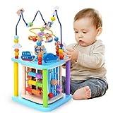 Baobë Holzwürfel Spielzeug für Kinder Motorikwürfel Holzspielzeug Pädagogische Perle Labyrinth...