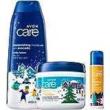 AVON Care Körperpflege-Set 3-teilig für trockene Haut mit Avocado - Weihnachtsdesign
