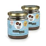Hasel-Herz Bio- Nuss-Nougat-Creme Brot-Aufstrich 2 Gläser x 220g | Gesüßt mit Kokosblütenzucker,...