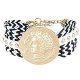 Thumby Unisex Armband Armbänder Vintage Böhmischen Weiblichen Armband Delphin Geflochtene Farbe...