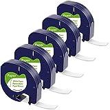 MarkField Kompatible Etiketten als Ersatz für Dymo LetraTag Etikettenband Paper White 12mm x 4m,...