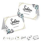 MAVANTO 50x Design Tischkarten Hochzeit Geburtstag DIN A7 - Platzkarten zum Beschriften in vielen...