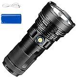 KaiKai Tragbare P90 4800LM super helle Taschenlampe, Hochleistungs-Scheinwerfer wiederaufladbare USB...