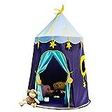 Kinderspielzelt für Mädchen Blau Indoor Sternenhimmel Baby Spielzeug Zelt Raumdekoration Folding...