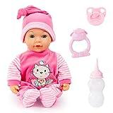 Bayer Design 93809AA Babypuppe, Funktionspuppe Tears Baby, weint Tränen, Macht Babygeräusche,...
